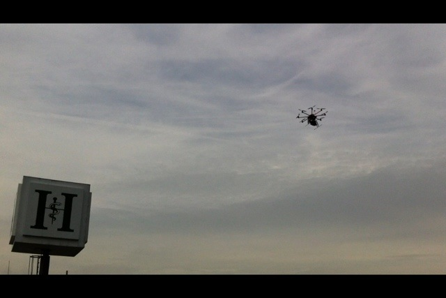Octocoptereinsatz über Wuppertal