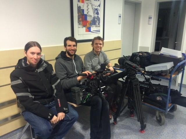 Immer gute Laune hatten bei den Dreharbeiten Patrick Jost, Christian Albrecht und Till Möhrke.