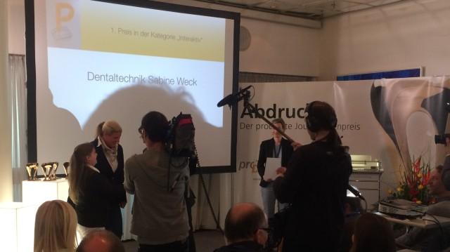Verleihung des Kommunikationspreises der Initiative proDente.