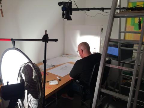 Martin Tazl bei der Arbeit
