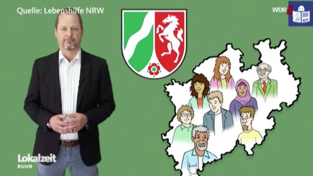 Wort und Bild in leichter Sprache kennzeichnen den Landtagswahlfilm NRW 2017.
